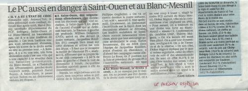 Le Parisien 25 mars 2014