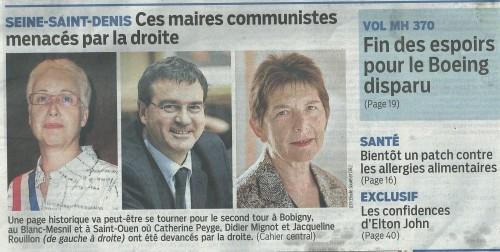 Le Parisien 25 mars 2014 p2