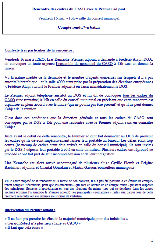 1 Rencontre cadres 16 mai 2014