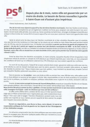 lettre PS 15 sept 1