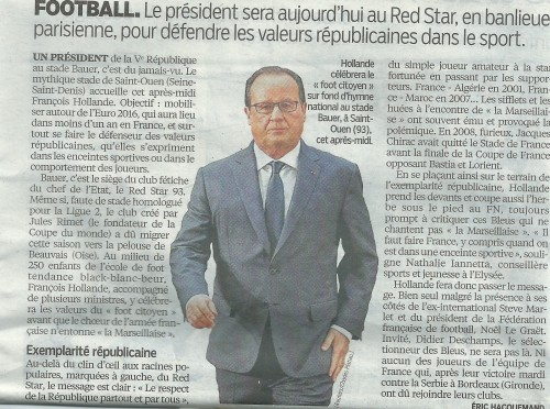 Le Parisien Hollande à Bauer
