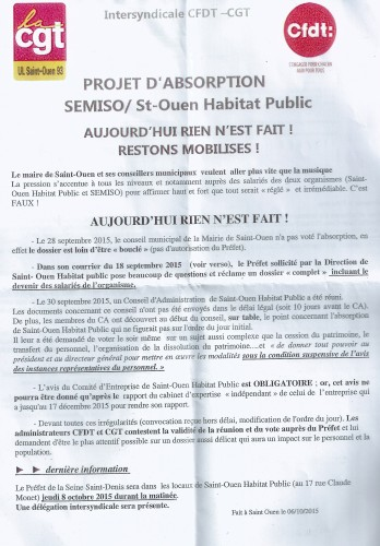 cession Semiso tract intersyndicale