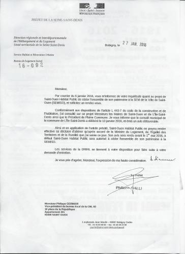lettre Prefet fusion